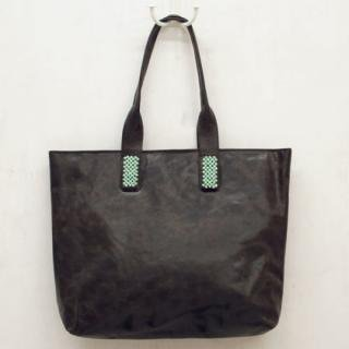Sseko Designs:<br>Santorini in Espresso Brown Accent Tote
