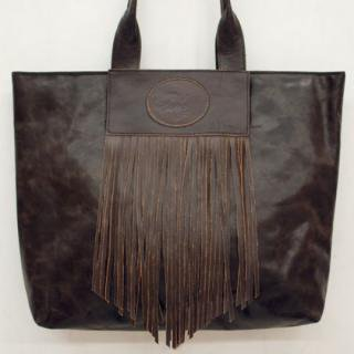 Sseko Designs:<br>Full Fringe in Espresso Brown Accent Tote