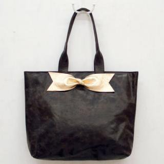 Sseko Designs:<br>Gold Bow in Espresso Brown Accent Tote