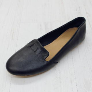 Sseko Designs:<br>Accent Leather Loafer<br>Black