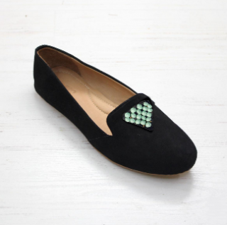 Sseko Designs:<br>Santorini Accent Leather Loafer<br>Black