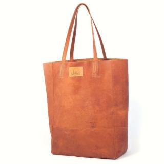 Sseko Designs:<br>Safari Leather Bucket Bag<br>Caramel