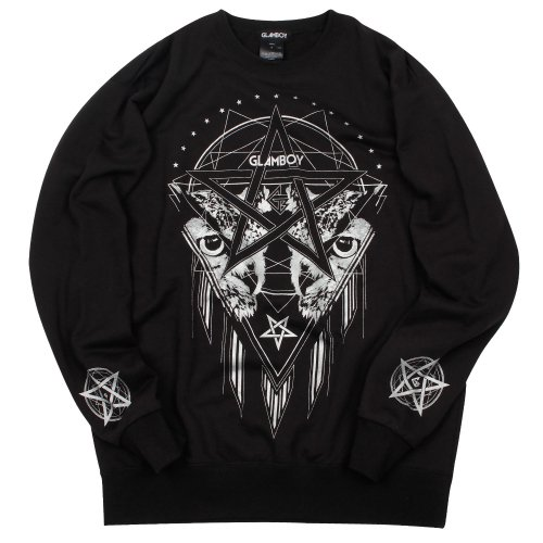 <img class='new_mark_img1' src='//img.shop-pro.jp/img/new/icons16.gif' style='border:none;display:inline;margin:0px;padding:0px;width:auto;' />GLEAMING OWL SWEATSHIRT【SILVER】