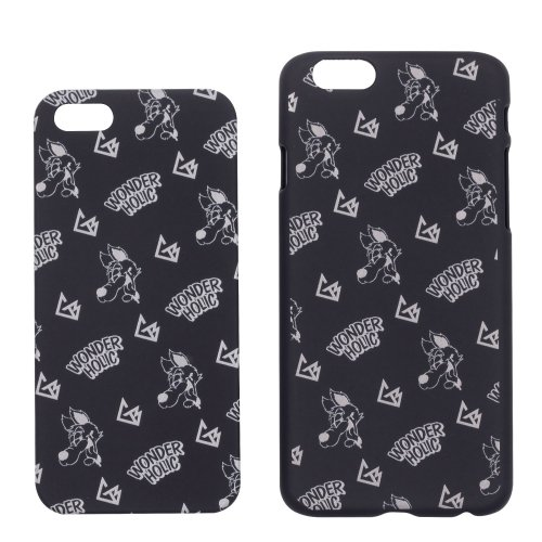 CARTOON WOLF iPhone CASE BLACK