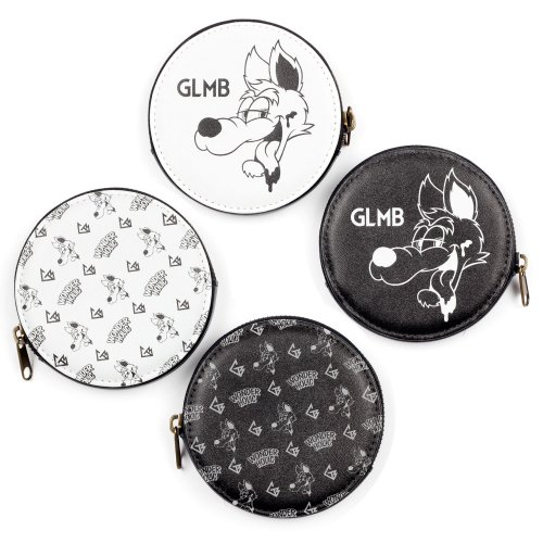 CARTOON WOLF COIN CASE