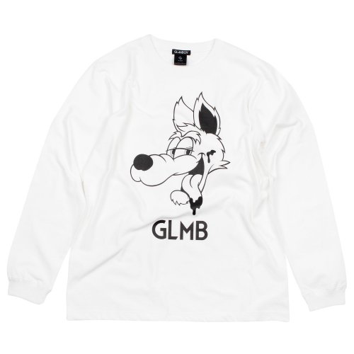 CARTOON WOLF LONG SLEEVE T 【WHITE】