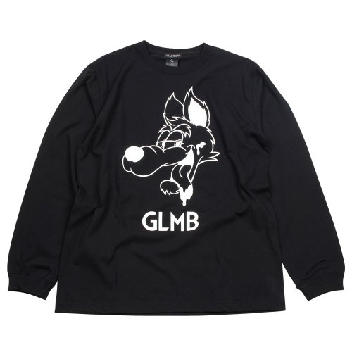 <img class='new_mark_img1' src='https://img.shop-pro.jp/img/new/icons24.gif' style='border:none;display:inline;margin:0px;padding:0px;width:auto;' />CARTOON WOLF LONG SLEEVE T 【BLACK】