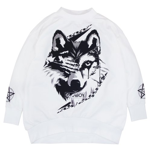 <img class='new_mark_img1' src='//img.shop-pro.jp/img/new/icons5.gif' style='border:none;display:inline;margin:0px;padding:0px;width:auto;' />狼 MOCK NECK BiG SWEAT 【WHITE】