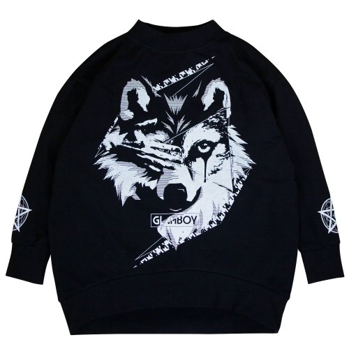 <img class='new_mark_img1' src='//img.shop-pro.jp/img/new/icons5.gif' style='border:none;display:inline;margin:0px;padding:0px;width:auto;' />狼 MOCK NECK BiG SWEAT 【BLACK】