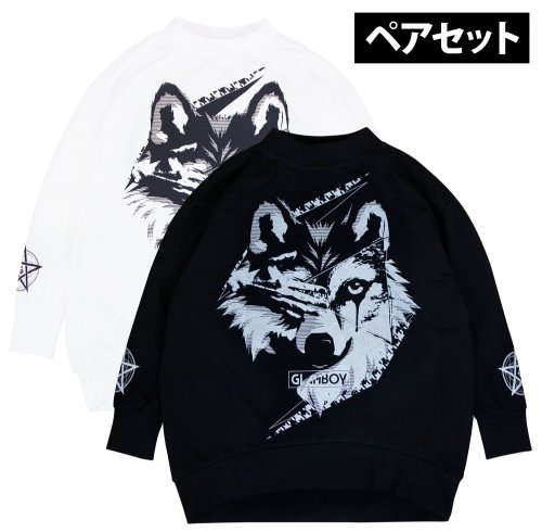 <img class='new_mark_img1' src='https://img.shop-pro.jp/img/new/icons5.gif' style='border:none;display:inline;margin:0px;padding:0px;width:auto;' />狼 MOCK NECK BiG SWEAT 【ペアセット】