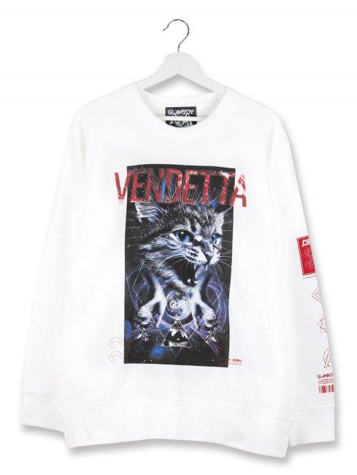 VENDETTA【子猫/ホワイト】 LOOSE SWEATSHIRTS