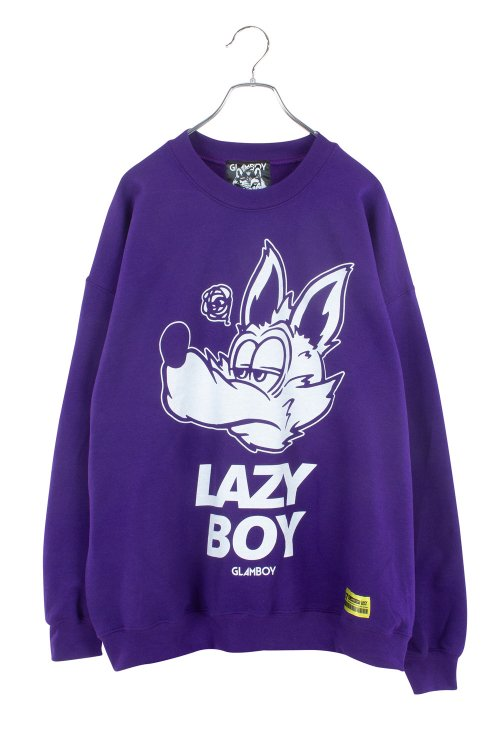 <img class='new_mark_img1' src='https://img.shop-pro.jp/img/new/icons5.gif' style='border:none;display:inline;margin:0px;padding:0px;width:auto;' />LAZYBOY BiG  SWEATSHIRTS 【紫】