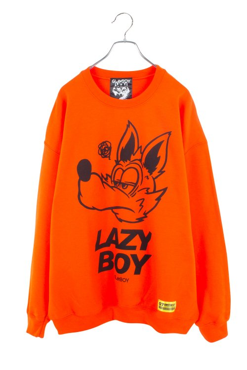 <img class='new_mark_img1' src='https://img.shop-pro.jp/img/new/icons5.gif' style='border:none;display:inline;margin:0px;padding:0px;width:auto;' />LAZYBOY BiG  SWEATSHIRTS 【オレンジ】