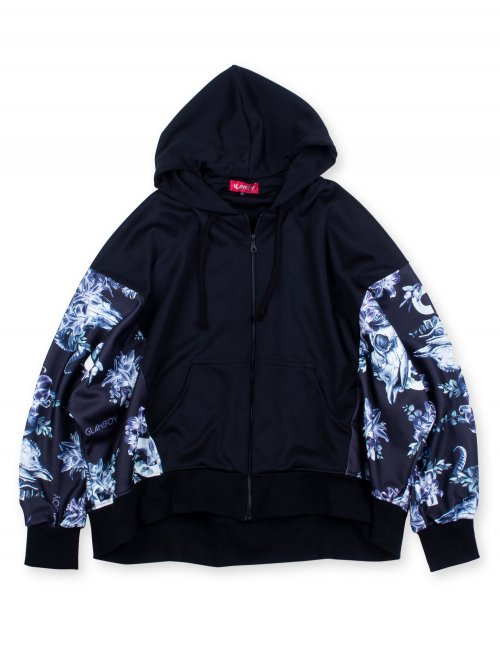 <img class='new_mark_img1' src='https://img.shop-pro.jp/img/new/icons5.gif' style='border:none;display:inline;margin:0px;padding:0px;width:auto;' />SCAPEGOAT DOLMAN SLEEVE ZIP HOODIE 【BLACK】