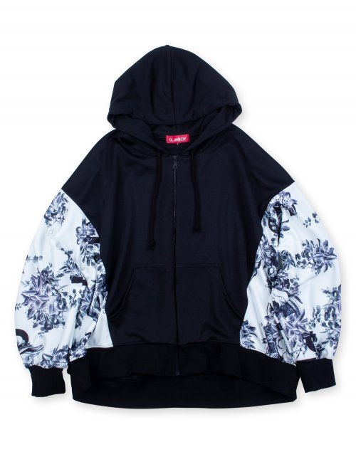 <img class='new_mark_img1' src='https://img.shop-pro.jp/img/new/icons5.gif' style='border:none;display:inline;margin:0px;padding:0px;width:auto;' />SCAPEGOAT DOLMAN SLEEVE ZIP HOODIE 【WHITE】