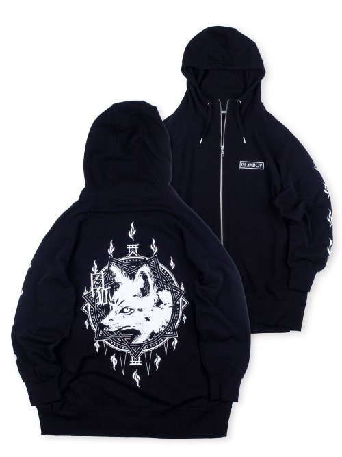 <img class='new_mark_img1' src='https://img.shop-pro.jp/img/new/icons5.gif' style='border:none;display:inline;margin:0px;padding:0px;width:auto;' />白狐 v.3 LONG ZIP HOODIE