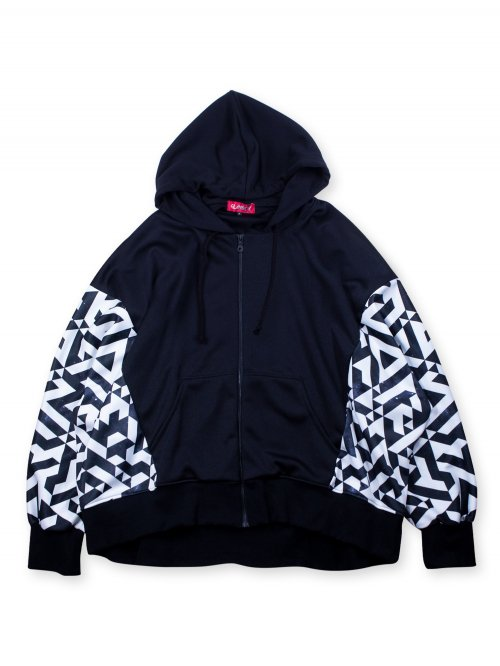 <img class='new_mark_img1' src='https://img.shop-pro.jp/img/new/icons5.gif' style='border:none;display:inline;margin:0px;padding:0px;width:auto;' />幾何学 DOLMAN SLEEVE ZIP HOODIE