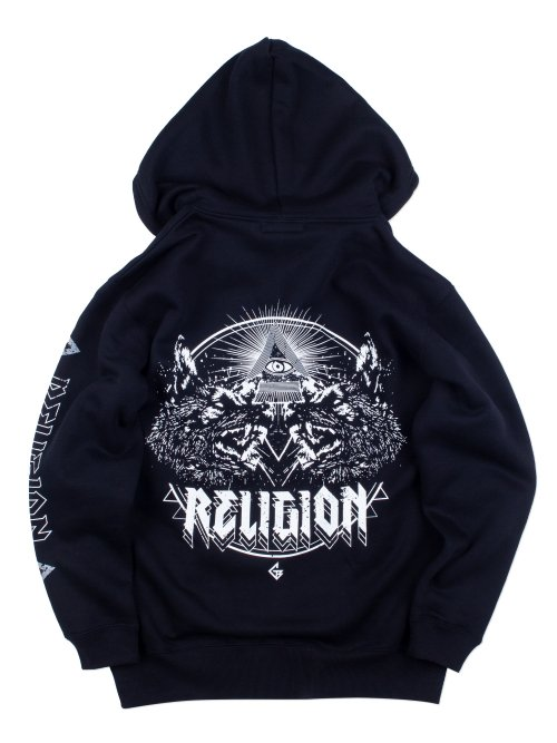 <img class='new_mark_img1' src='https://img.shop-pro.jp/img/new/icons5.gif' style='border:none;display:inline;margin:0px;padding:0px;width:auto;' />RELIGION ZIP HOODIE 【WHITE】