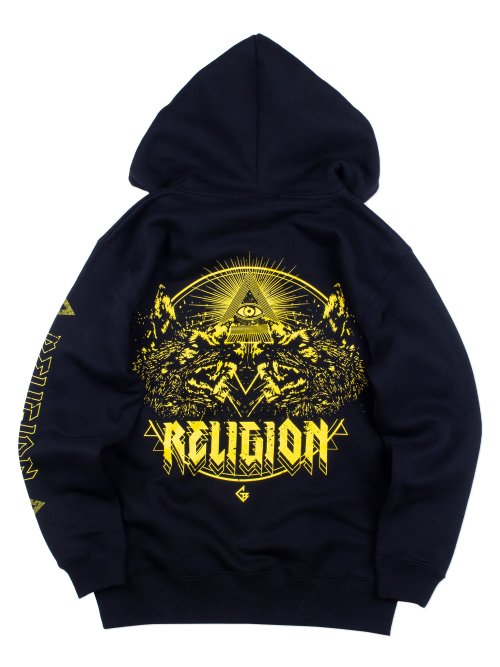 <img class='new_mark_img1' src='https://img.shop-pro.jp/img/new/icons5.gif' style='border:none;display:inline;margin:0px;padding:0px;width:auto;' />RELIGION ZIP HOODIE 【YELLOW】