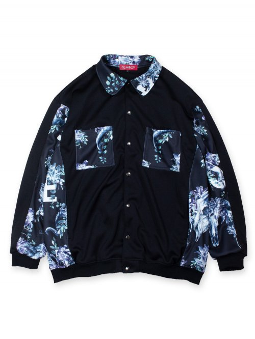 <img class='new_mark_img1' src='https://img.shop-pro.jp/img/new/icons8.gif' style='border:none;display:inline;margin:0px;padding:0px;width:auto;' />SCAPEGOAT SHIRT BLOUSON 【BLACK】