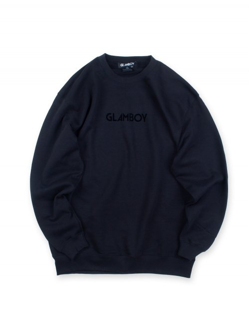 <img class='new_mark_img1' src='https://img.shop-pro.jp/img/new/icons8.gif' style='border:none;display:inline;margin:0px;padding:0px;width:auto;' />LOGO SWEATSHIRTS 【フロッキープリント】
