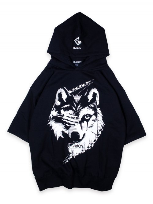 <img class='new_mark_img1' src='https://img.shop-pro.jp/img/new/icons8.gif' style='border:none;display:inline;margin:0px;padding:0px;width:auto;' />狼 v.3 SHORT SLEEVE HOODIE