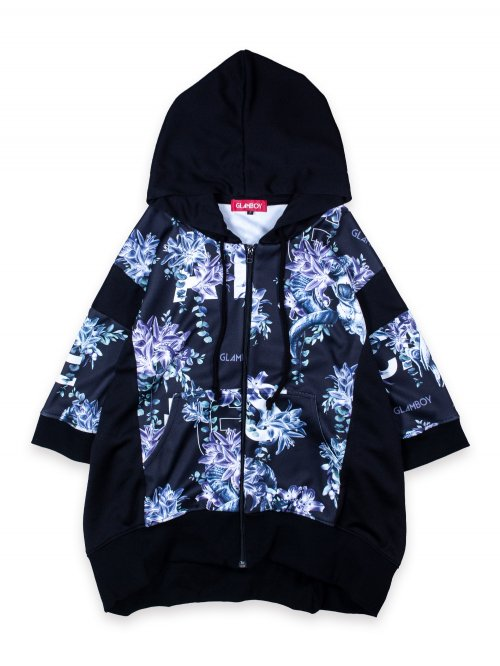 <img class='new_mark_img1' src='https://img.shop-pro.jp/img/new/icons8.gif' style='border:none;display:inline;margin:0px;padding:0px;width:auto;' />SCAPEGOAT S/S ZIP HOODIE【FLASHY BLACK】
