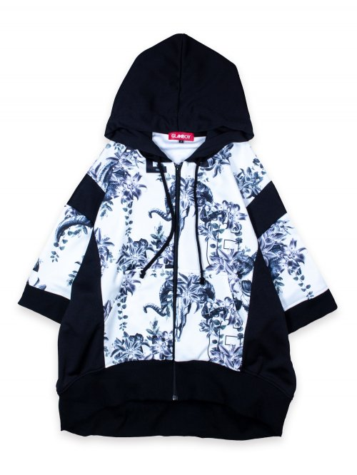 <img class='new_mark_img1' src='https://img.shop-pro.jp/img/new/icons8.gif' style='border:none;display:inline;margin:0px;padding:0px;width:auto;' />SCAPEGOAT S/S ZIP HOODIE【FLASHY WHITE】