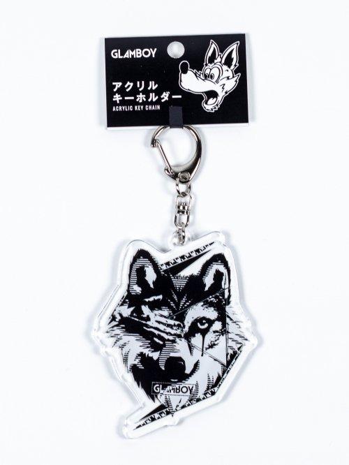 アクリルキーホルダー【狼】