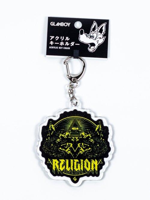 アクリルキーホルダー【RELIGION黄】