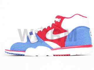 【US8】NIKE AIR TRAINER 1 MID PRM QS 607081-102 white/white-gym rd-game royal
