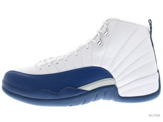 AIR JORDAN 12 RETRO 130690-113 white/french bl-mtllc slvr-vrst