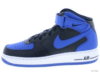 【US9】NIKE AIR FORCE 1 MID '07 315123-027 black/game royal-white