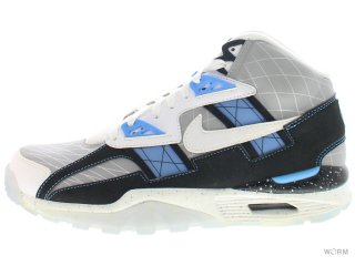 【US8】NIKE AIR TRAINER SC HIGH QS 585125-001 mtllc slvr/white-blk-unvrsty b