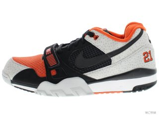 【US12】NIKE AIR TRAINER 2 PRM QS 632193-002 black/black-tm orange-wlf gry