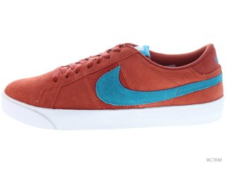 【US8.5】NIKE SB BLAZER LOW SB CS 418593-800 terra cotta/tropical teal