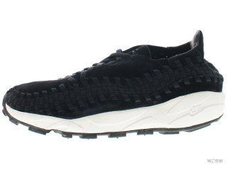 【US10】NIKE HTM AIR FOOTSCAPE WOVEN 313182-001 black/black-white