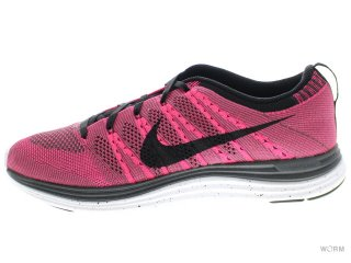 【US9.5】NIKE FLYKNIT ONE+ 554887-600 pink flash/black-midnight fog