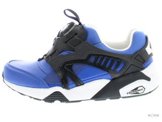 【US7】PUMA DISC BLAZE LEATHER 361979-03 nautical blue
