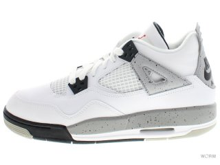 【US5.5Y】AIR JORDAN 4 RETRO OG BG 836016-192 white/fire red-black-tech grey
