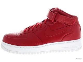 【US9.5】NIKELAB AIR FORCE 1 MID 819677-600 gym red/gym red-white