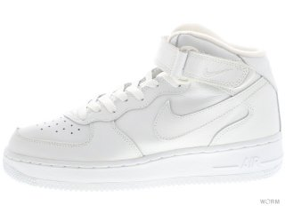 【US9】NIKE AIR FORCE 1 MID 624039-117 white/white