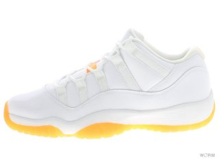 【US6Y】AIR JORDAN 11 RETRO LOW GG 580521-139 white/white-citrus