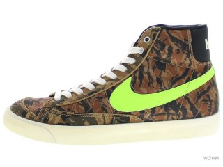 【US9.5】NIKE BLAZER MID '77 PRM VNTG 537327-300 dark loden/flash lime-black-sl