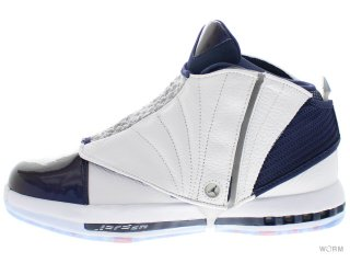 【US9.5】AIR JORDAN 16 RETRO 683075-106 white/white-midnight navy