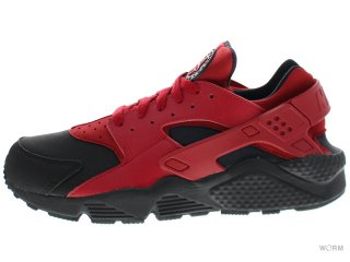 【US10】NIKE AIR HUARACHE RUN PRM 704830-006 black/gym red-gym red