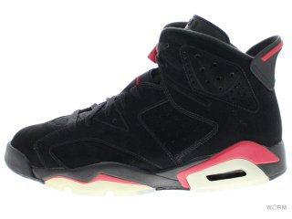 【US12】AIR JORDAN 6 RETRO 384664-061 black/varsity red