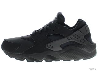 【US10.5】NIKE AIR HUARACHE 318429-003 black/black-white