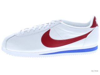 【US10】NIKE CLASSIC CORTEZ LEATHER QS 885723-164 white/varsity red