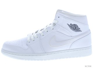 【US12】AIR JORDAN 1 MID 554724-102 white/cool grey-white
